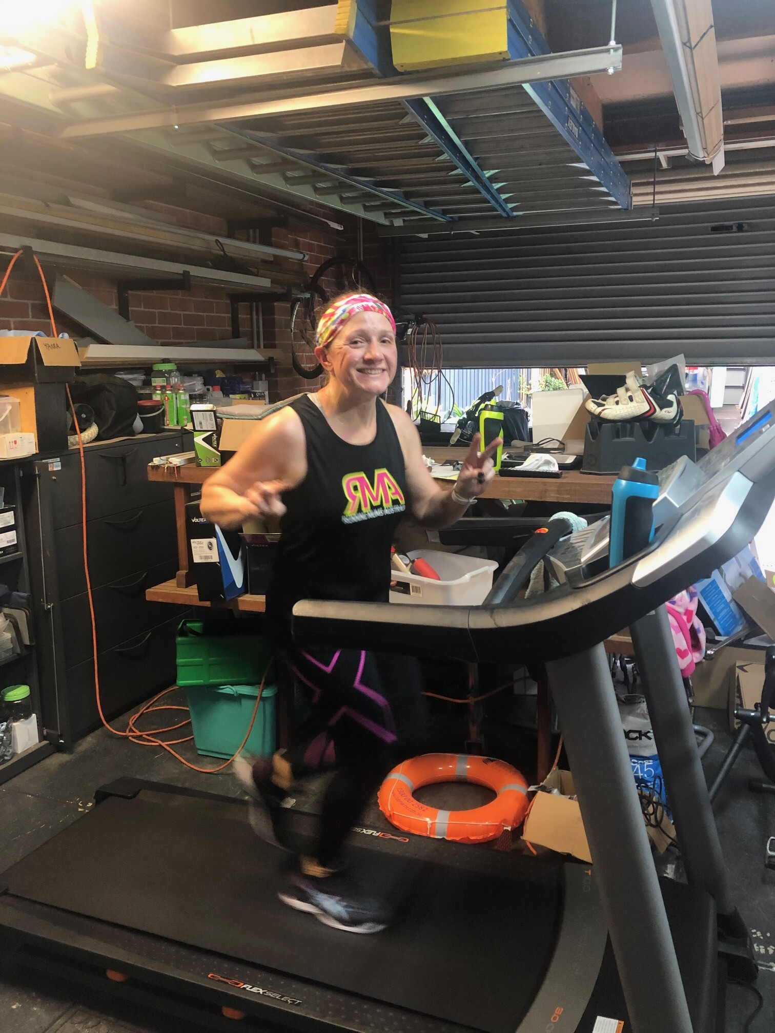 My COVID-19 Treadmill marathon by Kerry Downey