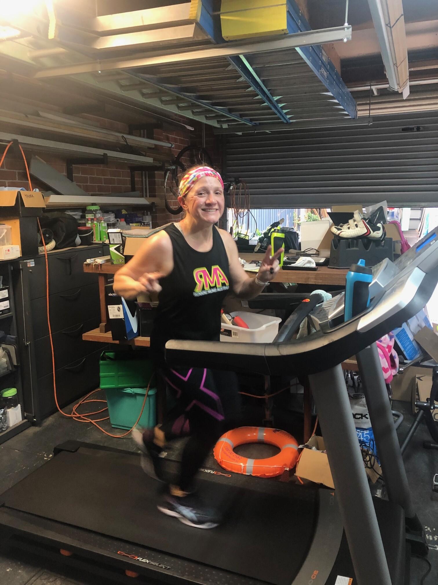My COVID-19 Treadmill marathon by Kerry Downey